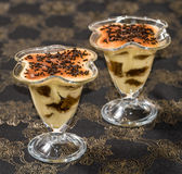 Tiramisu with chocolate Royalty Free Stock Photo