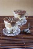 Tiramisu with chocolate flakes Royalty Free Stock Photo
