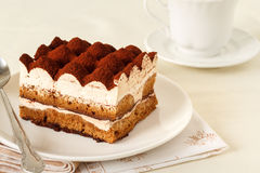 Tiramisu. Classical dessert with mascarpone and coffee Royalty Free Stock Image