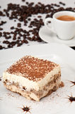 Tiramisu and Coffee Royalty Free Stock Image