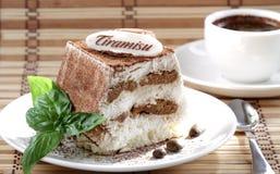 Tiramisu and coffee Stock Photo