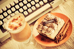 Tiramisu and coffee Stock Images