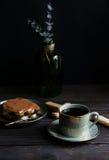 Tiramisu and coffee Royalty Free Stock Image