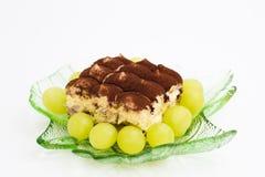 Tiramisu com fruto Imagem de Stock Royalty Free