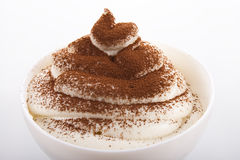 Tiramisu cream hill Stock Photos