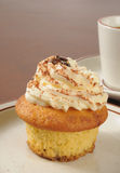 Tiramisu cupcake and coffee Royalty Free Stock Photography