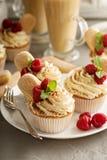 Tiramisu cupcakes with mascarpone cream Stock Images
