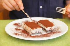 Tiramisu délicieux Photo libre de droits