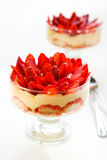 Tiramisu de fraise Images libres de droits