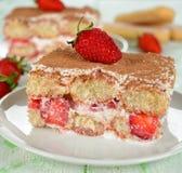 Tiramisu de fraise Photographie stock