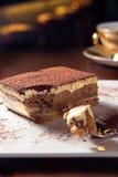 Tiramisu. Delicious tiramisu dessert with coffee Stock Image