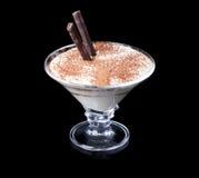 Tiramisu deser z czekoladą obraz royalty free