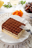 Tiramisu dessert. Tiramisu typical italian dessert on restaurant table royalty free stock photos