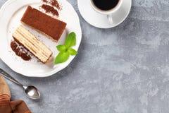 Tiramisu dessert and coffee Royalty Free Stock Image