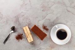 Tiramisu dessert and coffee Stock Photography