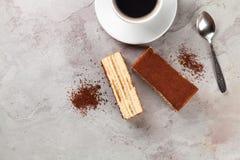 Tiramisu dessert and coffee Stock Image