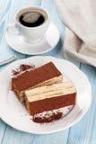 Tiramisu dessert and coffee Royalty Free Stock Photos