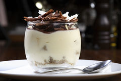 Tiramisu dessert in glass bowl Stock Photos