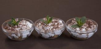 Tiramisu dessert in glass Royalty Free Stock Image
