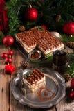 Tiramisu do Natal Fotografia de Stock