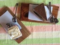Tiramisu e bolo Imagem de Stock Royalty Free