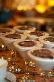 Tiramisu. Fresh Tiramisu inside martini glasses Stock Images