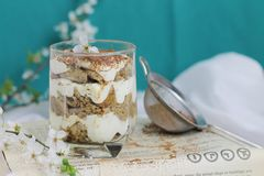 Tiramisu in a glass Royalty Free Stock Photos