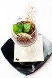Tiramisu in glass Stock Images