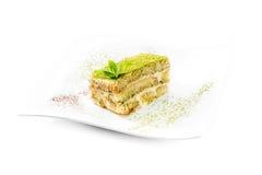 Tiramisu with green tea powder Stock Images