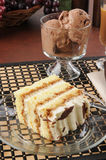 Tiramisu and ice cream Stock Photos