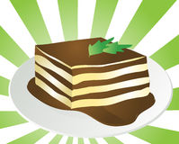 Tiramisu illustration Stock Photo