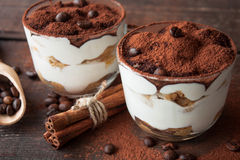 Free Tiramisu In A Glass Cup Stock Photography - 62676472
