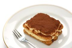 Tiramisu, Italiaans dessert royalty-vrije stock afbeelding