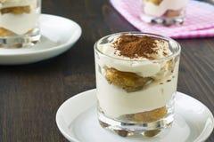 Tiramisu italiano da sobremesa Fotografia de Stock