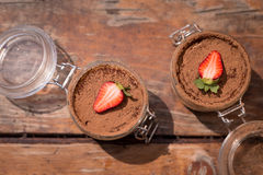 Tiramisu italiano delicioso da sobremesa da mola Fotos de Stock