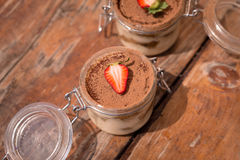 Tiramisu italiano delicioso da sobremesa da mola Foto de Stock