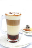 Tiramisu latte beverage. With cookies at background Stock Photography