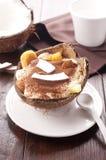 Tiramisu mit Ananas und Kokosnuss Stockbild