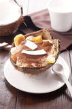 Tiramisu with pineapple and coconut Stock Image