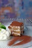 Tiramisu - sobremesa clássica fotografia de stock royalty free