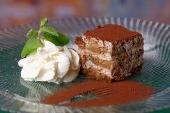 Tiramisu - sobremesa clássica foto de stock royalty free