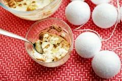Tiramisu - sobremesa italiana tradicional Imagens de Stock