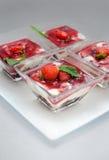Tiramisu with strawberries Stock Photography