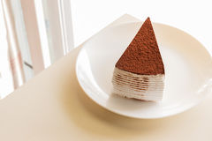 Tiramisu topping with cocoa powder Stock Images