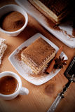 Tiramisu, a traditional Italian dessert Royalty Free Stock Photos