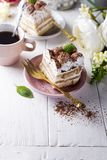 Tiramisu, traditional Italian dessert Royalty Free Stock Photos