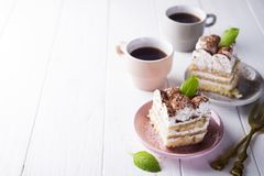 Tiramisu, traditional Italian dessert Royalty Free Stock Photography
