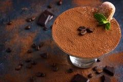 Tiramisu. Traditional italian dessert. Selective focus Royalty Free Stock Image