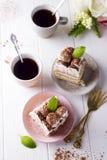 Tiramisu, traditional Italian dessert Stock Photos