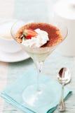 Tiramisu, traditioneel Italiaans dessert royalty-vrije stock foto